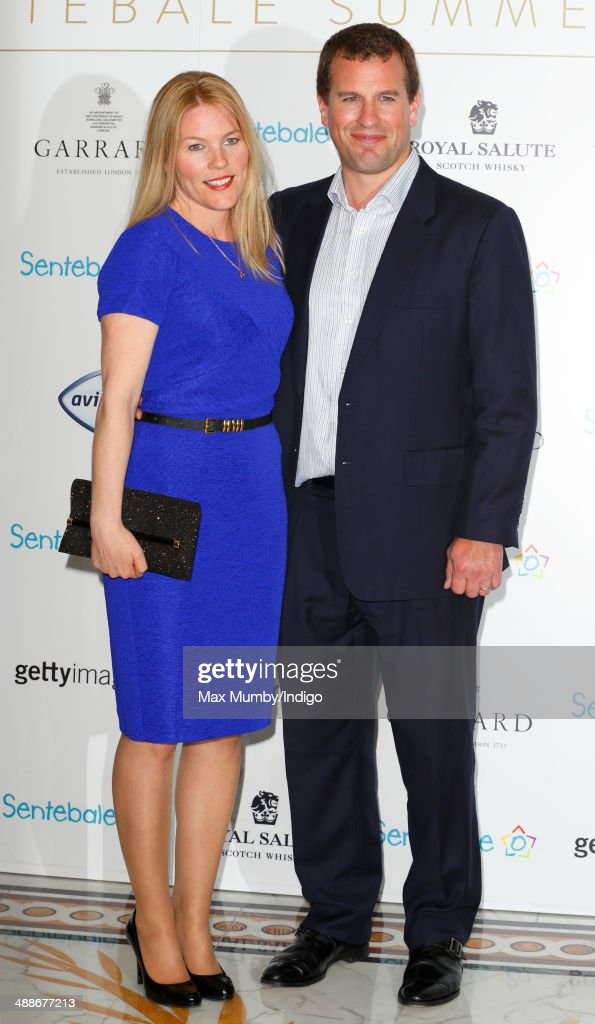 Autumn Phillips and Peter Phillips attend the Sentebale Summer Party at the Dorchester Hotel on May 7, 2014 in London, England.