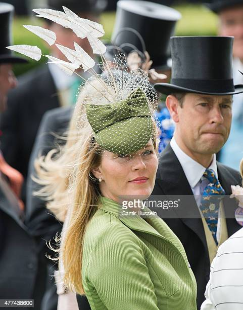 Autumn Phillips and Prince Edward Earl of Wessex attend day 2 of Royal Ascot at Ascot Racecourse on June 17 2015 in Ascot England