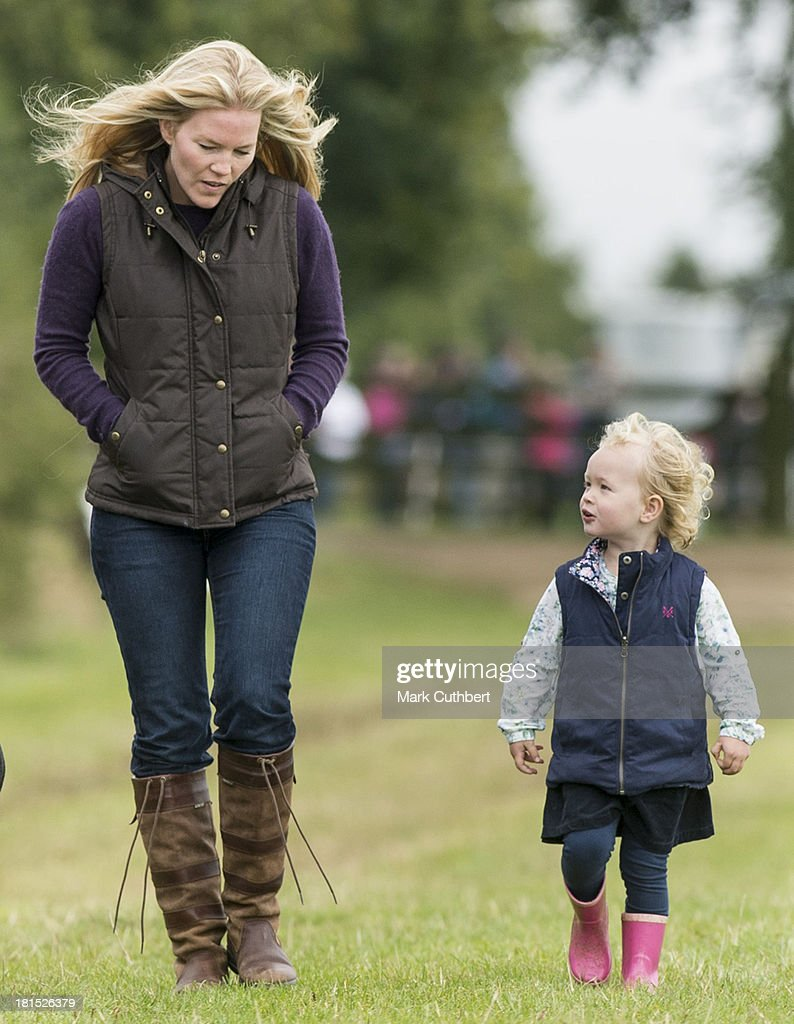 <a gi-track='captionPersonalityLinkClicked' href=/galleries/search?phrase=Autumn+Phillips&family=editorial&specificpeople=728048 ng-click='$event.stopPropagation()'>Autumn Phillips</a> and Savannah Phillips attend the Gatcombe Horse Trials at Gatcombe Park on September 21, 2013 in Minchinhampton, England.