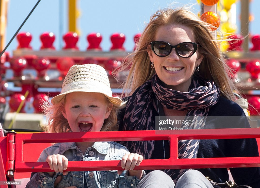 Autumn Phillips and Savannah Phillips on a Ferris wheel as they attend the Royal Windsor Horse show in the private grounds of Windsor Castle on May 16, 2015 in Windsor, England.