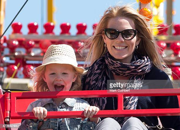 Autumn Phillips and Savannah Phillips on a Ferris wheel as they attend the Royal Windsor Horse show in the private grounds of Windsor Castle on May...