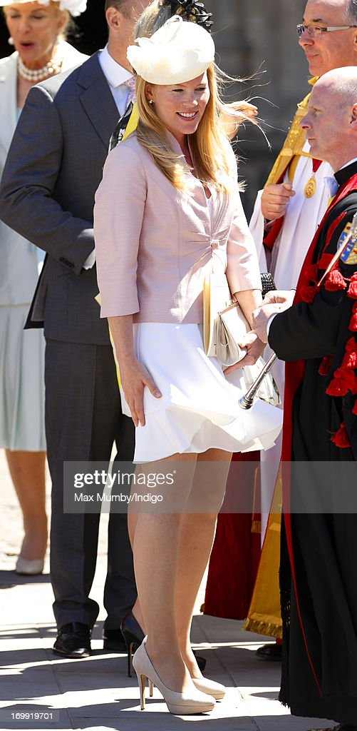 Autumn Phillips attends a service of celebration to mark the 60th anniversary of the Coronation of Queen Elizabeth II at Westminster Abbey on June 4, 2013 in London, England. The Queen's Coronation took place on June 2, 1953 after a period of mourning for her father King George VI, following her ascension to the throne on February 6, 1952. The event 60 years ago was the first time a coronation was televised for the public.