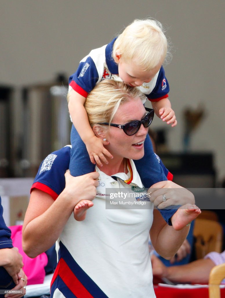 <a gi-track='captionPersonalityLinkClicked' href=/galleries/search?phrase=Autumn+Phillips&family=editorial&specificpeople=728048 ng-click='$event.stopPropagation()'>Autumn Phillips</a> carries daughter <a gi-track='captionPersonalityLinkClicked' href=/galleries/search?phrase=Isla+Phillips&family=editorial&specificpeople=9481041 ng-click='$event.stopPropagation()'>Isla Phillips</a> on her shoulders as she attends day 2 of the Festival of British Eventing at Gatcombe Park on August 2, 2014 in Minchinhampton, England.