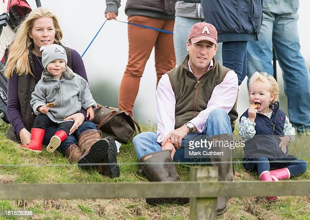 Autumn Phillips Isla Phillips Peter Phillips and Savannah Phillips attend the Gatcombe Horse Trials at Gatcombe Park Minchinhampton England