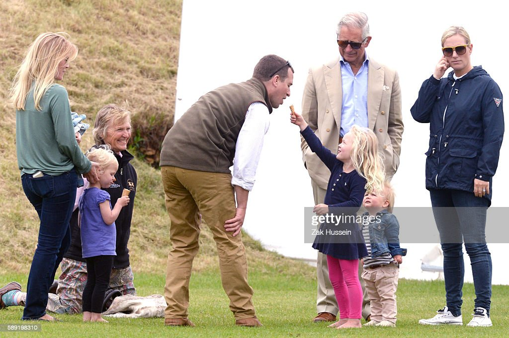 Autumn Phillips Isla Phillips Peter Phillips Savannah Phillips Prince Charles Prince of Wales Mia Tindall and Zara Phillips attend the Gigaset...