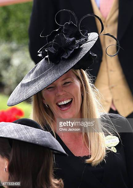 Autumn Phillips laughs in the parade ring on day 1 of Royal Ascot at Ascot Racecourse on June 16 2015 in Ascot England