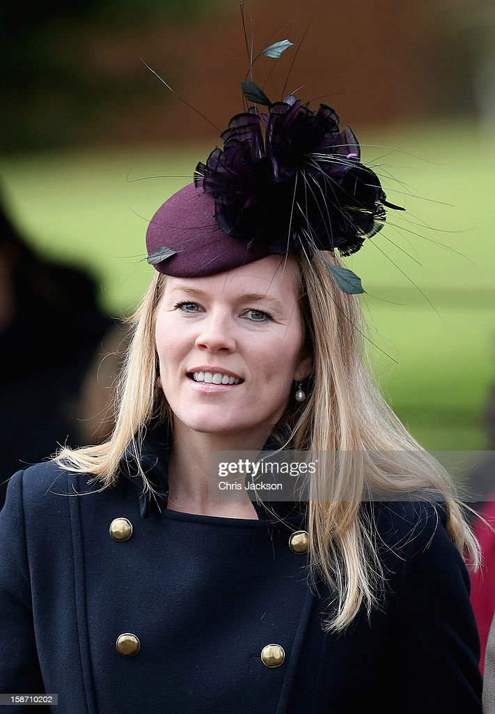 Autumn Phillips leaves St Mary Magdalene Church after attending the traditional Christmas Day church service on December 25, 2012 in Sandringham near King's Lynn, England.