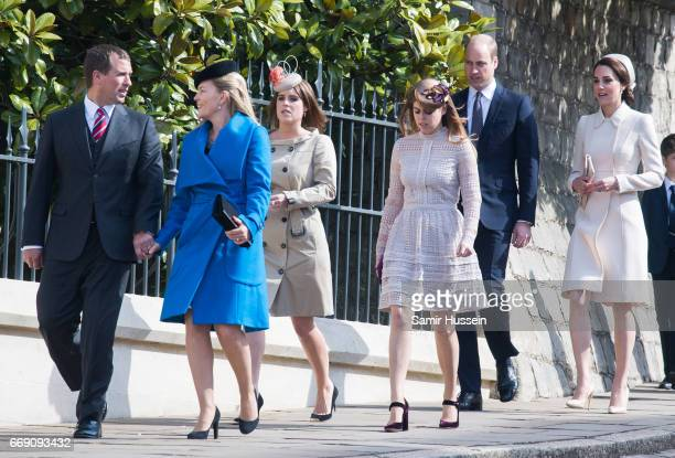 Autumn Phillips Peter Phillips Catherine Duchess of Cambridge Prince William Duke of Cambridge Princess Beatrice of York and Princess Eugenie of York...