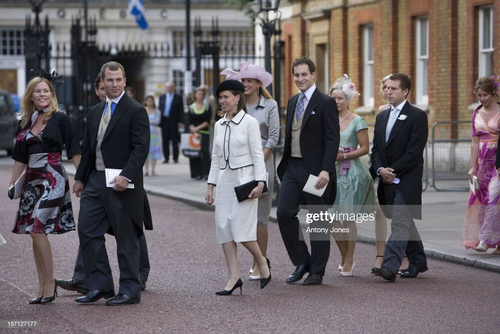 Autumn Phillips Peter Phillips Lady Sarah Chatto And Gabriella Windor And Lord Freddie Windsor At The Wedding Of Lady Rose Windsor Youngest Daughter...