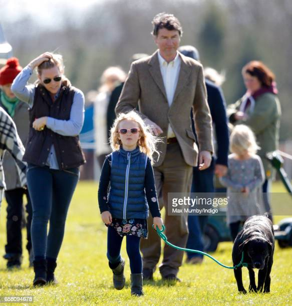 Autumn Phillips Savannah Phillips and Vice Admiral Sir Timothy Laurence attend the Gatcombe Horse Trials at Gatcombe Park on March 26 2017 in Stroud...