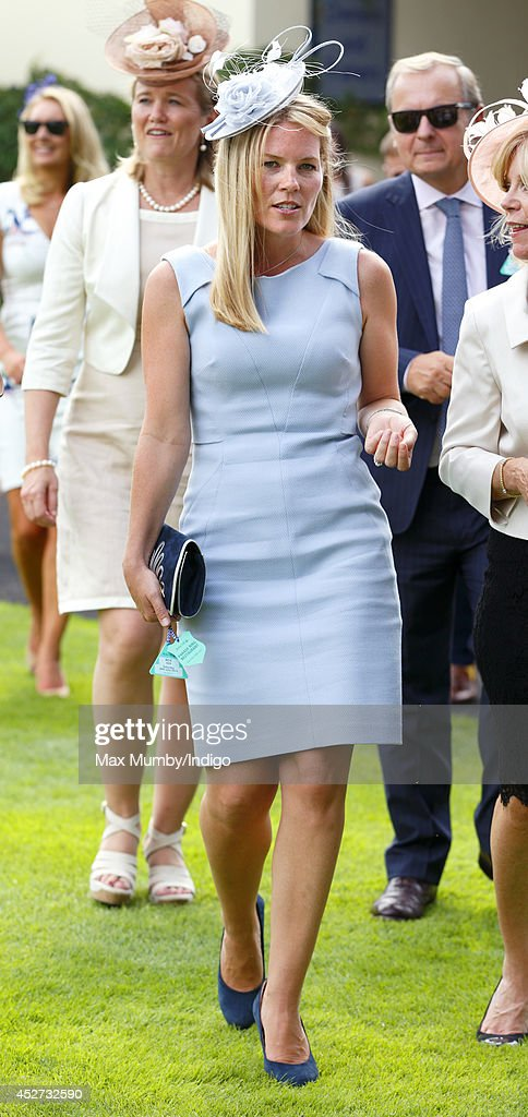 <a gi-track='captionPersonalityLinkClicked' href=/galleries/search?phrase=Autumn+Phillips&family=editorial&specificpeople=728048 ng-click='$event.stopPropagation()'>Autumn Phillips</a> watches the horses in the parade ring as she attends the King George Day Meet at Ascot Racecourse on July 26, 2014 in Ascot, England.