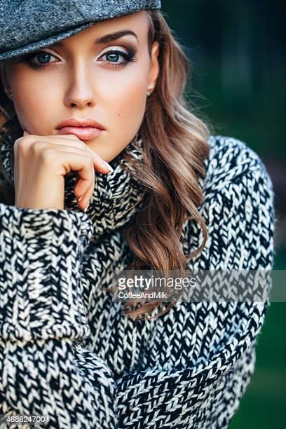 Autumn portrait of beautiful woman