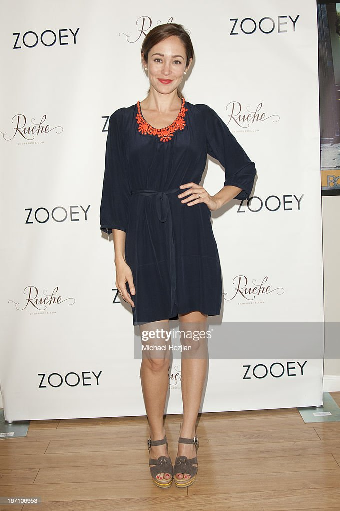 Autumn Reeser attends Zooey Magazine And A Beautiful Mess Present...Crafts & Cocktails Launch Party at Seychelles Shoes' Showroom on April 20, 2013 in El Segundo, California.