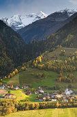 Autumn rural scene in the swiss alps