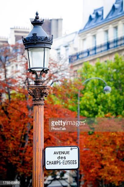 Autumn Season of Paris Champs-Elysees Avenue - XLarge