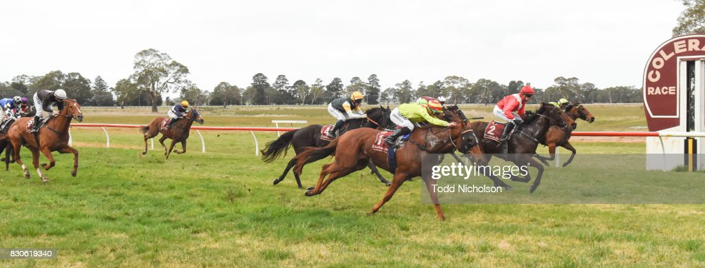 Autumn Sunset ridden by Cody Collins wins the Bet365 Coleraine Cup 24th Sept BM64 Handicap at Coleraine Racecourse on August 12, 2017 in Coleraine, Australia.