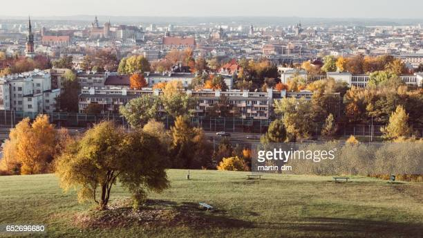 Autumn view of Krakow