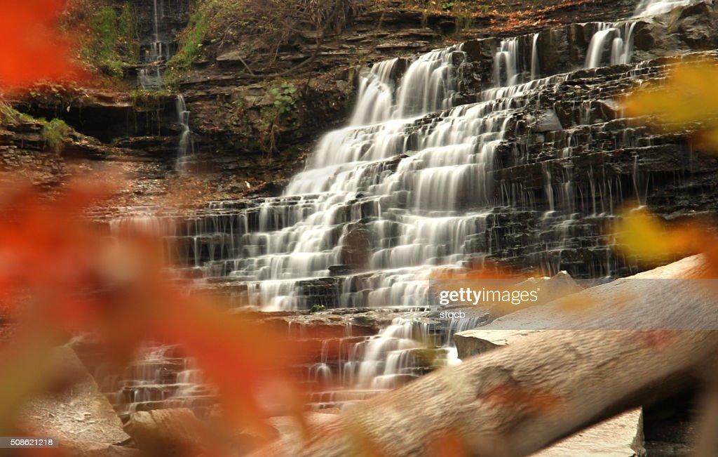 Autumn Waterfall : Stock Photo