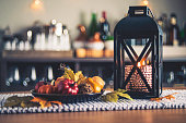 Autumnal decorations for the fall holidays