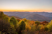 Majestic Sunset over an Autumnal Mountain Landscape from Mount Greylock. The Berkshires, MA.