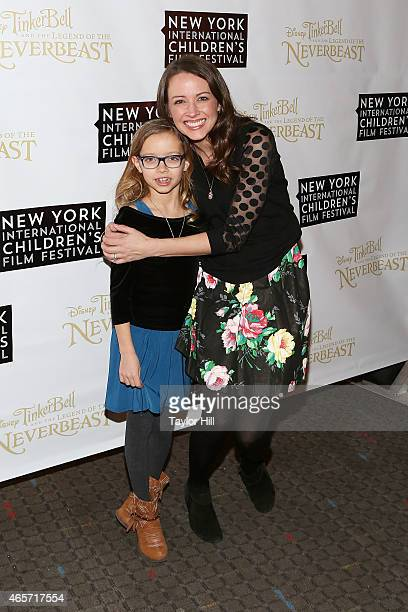 Ava Carpinello and actress Amy Acker attend Disneys 'Tinker Bell and the Legend of the NeverBeast' NYICFF Special Screening at SVA Theatre on...