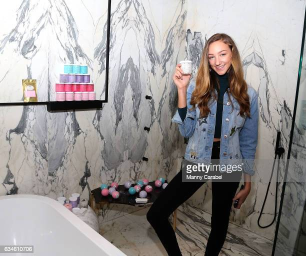 Ava Cota attends Illumination PR x NYFW Celebrity Beauty Bar at The Time New York on February 10 2017 in New York City