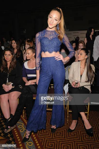 Ava Cota attends the Sherri Hill NYFW Fall 2017 Runway Show at Gotham Hall on February 13 2017 in New York City