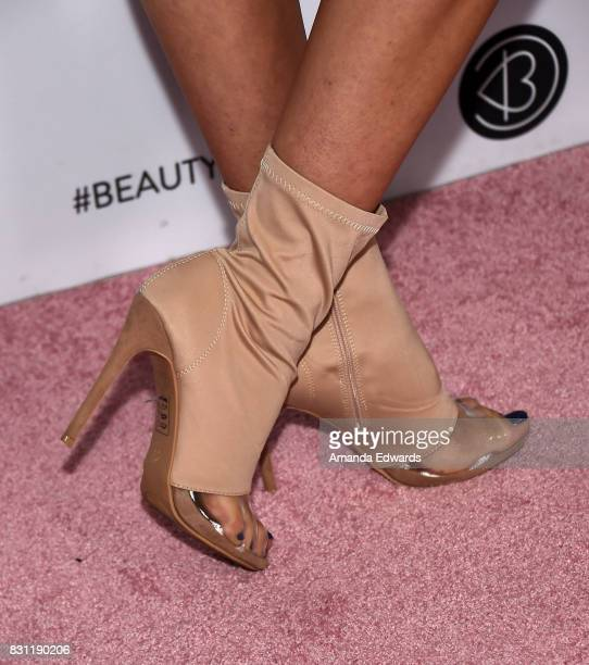 Ava Cota shoe detail attends the 5th Annual Beautycon Festival Los Angeles at the Los Angeles Convention Center on August 13 2017 in Los Angeles...