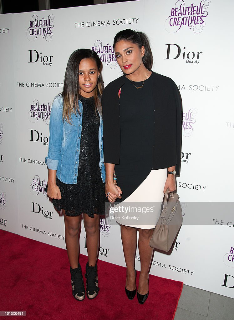 Ava Dash and Rachel Roy attends The Cinema Society And Dior Beauty Presents A Screening Of 'Beautiful Creatures' at Tribeca Cinemas on February 11, 2013 in New York City.