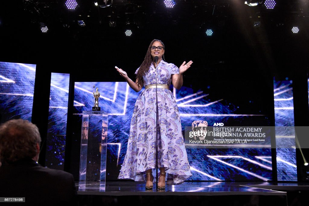 Ava DuVernay accepts John Schlesinger Britannia Award for Excellence in Directing presented by The GREAT Britain Campaign at the 2017 AMD British Academy Britannia Awards Presented by American Airlines And Jaguar Land Rover at The Beverly Hilton Hotel on October 27, 2017 in Beverly Hills, California.