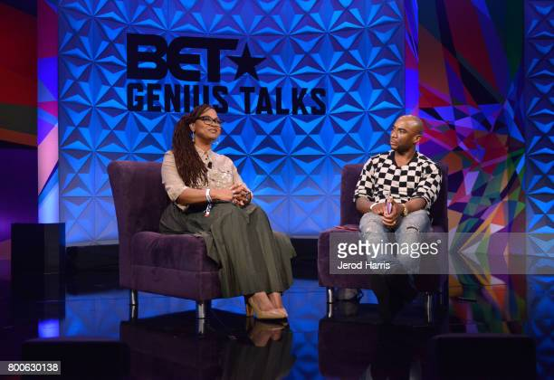 Ava DuVernay and Charlamagne tha God at day one of Genius Talks sponsored by ATT during the 2017 BET Experience at Los Angeles Convention Center on...