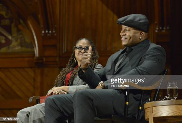 Ava DuVernay and LL Cool J were among the eight recipients of the 2017 WEB DuBois Medal at Harvard University's Sanders Theatre on October 4 2017 in...