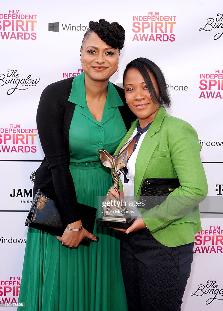 Ava DuVernay (L) attends the 2013 Film Independent Spirit Awards after party at The Bungalow at The Fairmont Hotel on February 23, 2013 in Santa Monica, California.