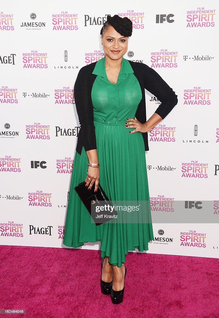 Ava DuVernay attends the 2013 Film Independent Spirit Awards at Santa Monica Beach on February 23, 2013 in Santa Monica, California.