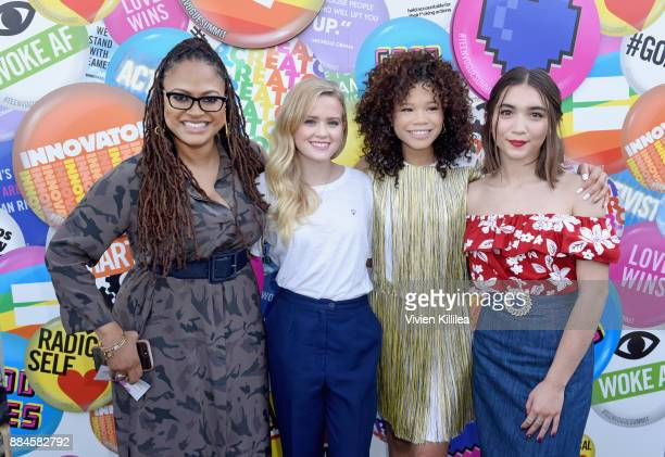 Ava DuVernay Ava Phillippe Storm Reid and Rowan Blanchard attend The Teen Vogue Summit LA Keynote Conversation with A Wrinkle In Time director Ava...