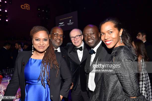 Ava DuVernay Bernard J Tyson Tom Perez David Adjaye and Ashley ShawScott attend the 2017 TIME 100 Gala at Jazz at Lincoln Center on April 25 2017 in...