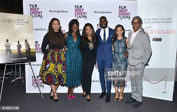 Ava DuVernay Rutina Wesley Oprah Winfrey Kofi Siriboe DawnLyen Gardner and Elvis Mitchell attend Film Independent at LACMA An Evening With Ava...