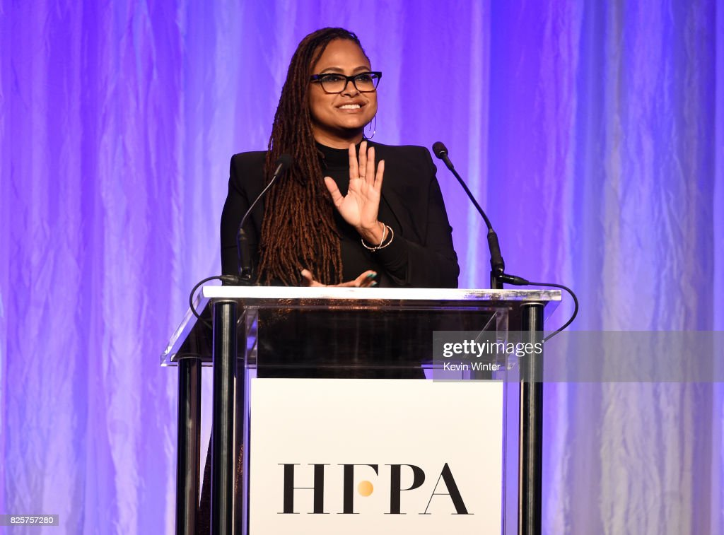Ava DuVernay speaks onstage at the Hollywood Foreign Press Association's Grants Banquet at the Beverly Wilshire Four Seasons Hotel on August 2, 2017 in Beverly Hills, California.