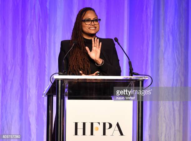 Ava DuVernay speaks onstage at the Hollywood Foreign Press Association's Grants Banquet at the Beverly Wilshire Four Seasons Hotel on August 2 2017...