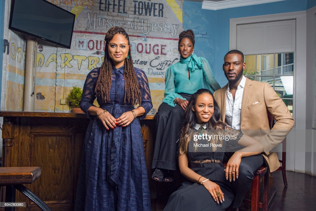 Ava DuVernay with actors Rutina Wesley, Kofi Siriboe and Dawn-Lyen Gardner of the cast Queen Sugar for Essence Magazine on July 1, 2016 in New Orleans, Louisiana.
