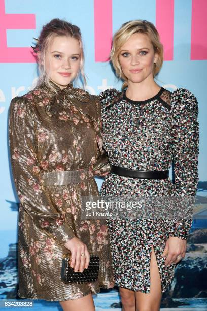Ava Elizabeth Phillippe and actor Reese Witherspoon attend the premiere of HBO's 'Big Little Lies' at the TCL Chinese Theater on February 7 2017 in...