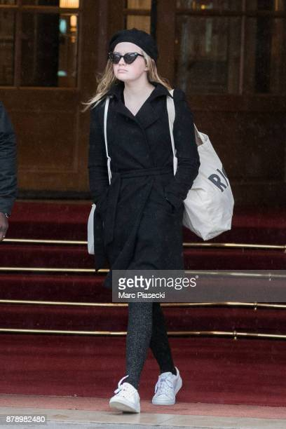 Ava Elizabeth Phillippe is seen leaving the 'Ritz' hotel on November 25 2017 in Paris France