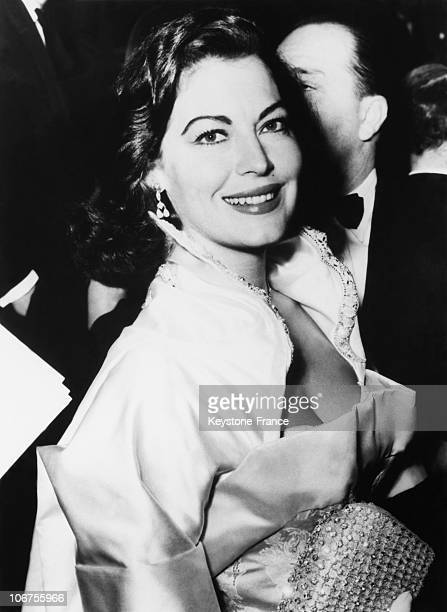 Ava Gardner Attending The Premiere Of The Film The Colditz Story 1935