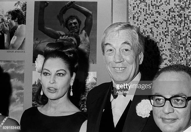 Ava Gardner with John Huston at a failed play circa 1970 New York