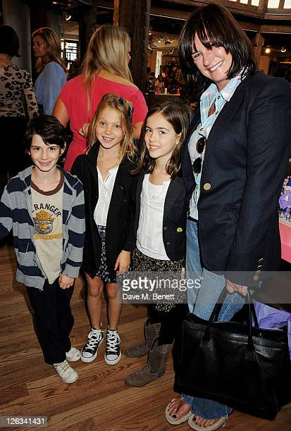 Ava Jones Lila Grace Moss Stella Jones and Miranda Davis attend the launch of the Liberty Art Fabrics for Hello Kitty Collection at Liberty London on...
