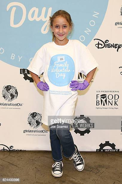 Ava Kolker arrives at the generationOn and Disney Family Volunteer Day event on November 19 2016 in Los Angeles California