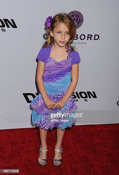 Ava Kolker arrives at the 'Scary Movie V' Los Angeles Premiere at ArcLight Cinemas Cinerama Dome on April 11 2013 in Hollywood California