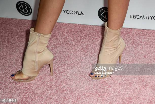 Ava Michelle Cota shoe detail attends Day 2 of the 5th Annual Beautycon Festival Los Angeles at the at Los Angeles Convention Center on August 13...