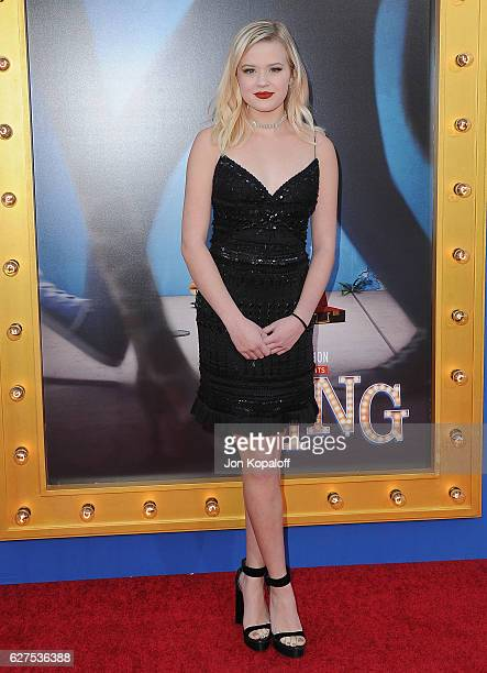 Ava Phillippe arrives at the Los Angeles Premiere 'Sing' at the Microsoft Theater on December 3 2016 in Los Angeles California