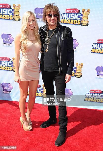 Ava Sambora and Richie Sambora arrives at the Disney Channel Presents 2014 Radio Disney Music Awards at Nokia Theatre LA Live on April 26 2014 in Los...